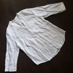 Charter Club V Neck Button Up Blouse Size Med